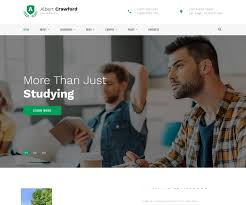 Albert Crawford University Multipage HTML Template