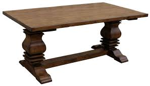 classic trestle dining room table
