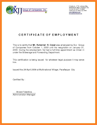 Resume Template With Photo Certificate Of Employment Sample In