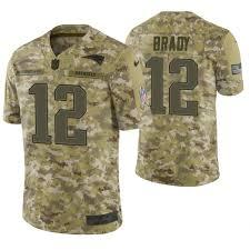 Limited Brady 2018 Service Patriots To Salute Camo Tom Jersey