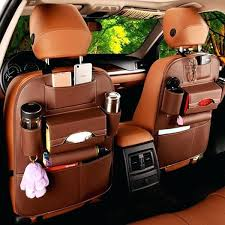 faux leather seat covers for cars faux leather car back seat organizer