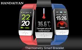 Fitness Tracker HR Couple Watch <b>Smart Bracelet</b> with <b>Temperature</b> ...