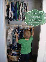hanging clothes bar for kid s closets