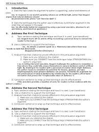 sat essay outline argument rhetoric
