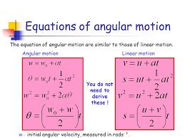 equations of angular motion