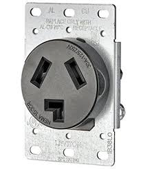 range dryer leviton 30 amp 125 250 volt flush mount electrical receptacle straight blade
