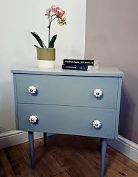 funky style furniture. Retro Vintage Funky Style Bedside Table Cabinet Chest Of Drawers Painted In Farrow \u0026 Ball Eggshell Furniture I