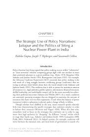 the strategic use of policy narratives jaitapur and the politics inside