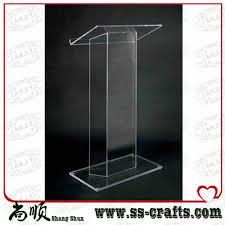 elegant detachable floor standing high grade cheap acrylic lectern cheap elegant furniture