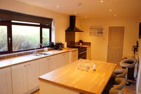 kitchen with range cooker coffee machine and bose speaker