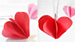 paper heart 3d for decoration diy crafts paper hearts design valentine s day tutorial you