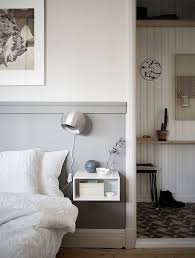 a floating nightstand is the perfect space-saving solution for a small  bedroom