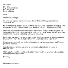 formatting tips for cover letters layout of cover letter