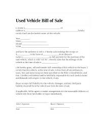 Free Motor Vehicle Bill Of Sale Bill Of Sale Form Template Invoice Template Inspirational Bill Sale