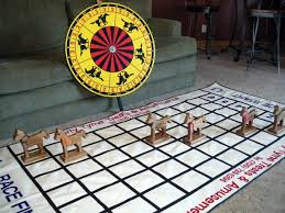 Wooden Horse Race Game Pattern Adorable Horse Racing Using Spin Wheel Instead Of Dice At The Races Games