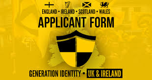 Identitarian Identity Generation Movement Form Applicant