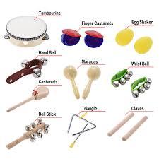 بزرگترین پیج تخصصی ساز های کوبه ای. 10pcs Musical Instruments Percussion Toy Kit Rhythm Band Set Including Tambourine Maracas Triangle Castanets Wrist Bell For Baby Bell Bell Bell Musicbells Percussion Instrument Aliexpress