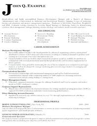 Cover Letter Business Development Cover Letter For Business