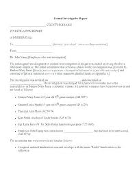 Formal Business Report Template