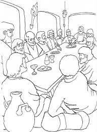 Small Picture The Last Supper Coloring Page Free The Last Supper Online