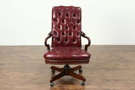traditional swivel desk chair adjule tufted faux leather office conference room chairs cushioned counter stools garage
