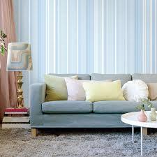 Blau Weiß Vertikale Gestreifte Tapete Für Jungen Schlafzimmer Tapete Blau  Natürliche Material Tapeten Für Wände 3