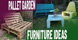 easy diy pallet garden furniture ideas