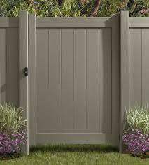 vinyl fence colors. Chesterfield Certagrain Gate - Natural Clay: Avinylfence.com. \u2039 Vinyl Fence Colors