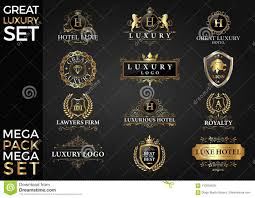 Free Vector Design Eps Great Luxury Set Royal And Elegant Logo Template Vector