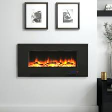 electric fireplace wall insert inserted fireplaces modern in black