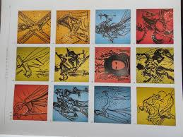 salvador dali signed le the twelve apostles knights of the round table 1972