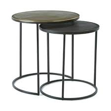 round metal tables black metal nesting round side tables