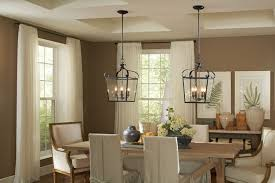 country dining room lighting. Country Dining Room Remodeling Ideas With Antique Iron Pendant Lamps Using White Curtain And Brown Wall Color Lighting G