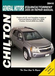 chevrolet equinox, pontiac torrent repair manual 2005 2009 chilton  at Haynes Repair Manual 2016 Chevrolet Equinox Tail Light Wiring Diagram