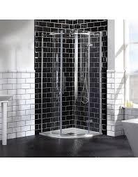 frontline aquaglass elegance 1000 x 1000mm 2 door quadrant enclosure