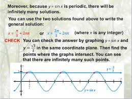 moreover because y sin x is periodic there will be infinitely many solutions you can use the two solutions found above to write the general solution