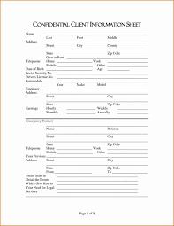 client information sheet template customer information form template customer information form