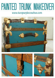 incredible vintage steamer trunk makeover from blah to bold and beautiful