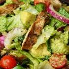 avocado and chicken salad with yummies