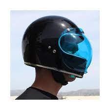 biltwell bubble visor blue
