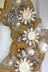 Burlap Decor Elegant Burlap And Snowflake Wreath Fynes Designs Fynes Designs