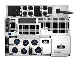 apc smart ups srt 8000va rm 208v to 120v 2u step down srt8krmxlt 5ktf rear