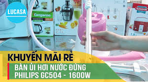 Bàn ủi hơi nước Philips GC504 - Philips garment steamer daily Touch GC504 -  YouTube