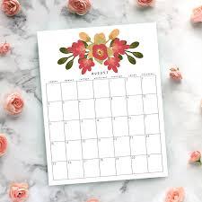 Free Clander Gorgeous Free Printable 2019 Floral Calendar
