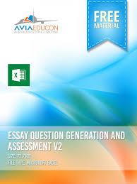 essay question generation and assessment v spreadsheet essay question generation and assessment v2 spreadsheet learning center