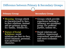 Secondary Group Social Groups And Processes