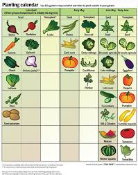 Fruit Planting Chart Spring Garden Calendar When To Plant Fruits And Vegetables