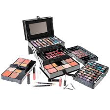 all in one makeup kit eyeshadow blushes powder lipstick more holiday exclusive black