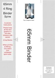 Binder And Spine Spine Templates For Your 4 Ring Binders