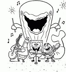 Spongebob And Gary Coloring Pages At Getdrawingscom Free For